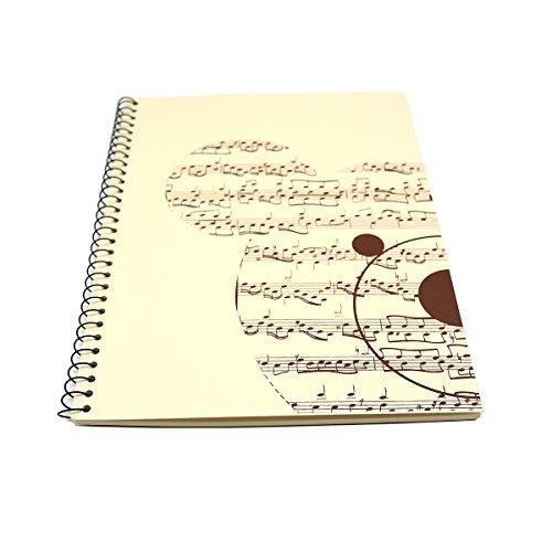 bestsounds Musik Notebook Zusammensetzung Manuscript Staff Papier [50Seiten] Ivory Bear (Musik-manuscript Notebook)