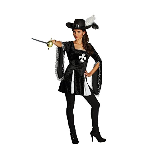 Lady Musketier Damen Kostüm zu Karneval Fasching (Kostüme Zu)