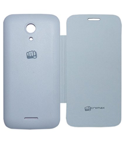 Evoque Flip Cover For Micromax A114 Canvas 2.2 WHITE  available at amazon for Rs.149