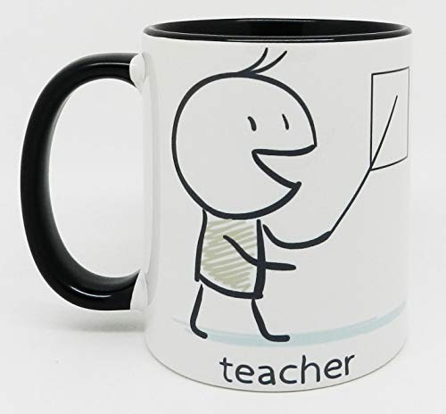 Half a Donkey The Teacher Mug with Black Inner and Handle