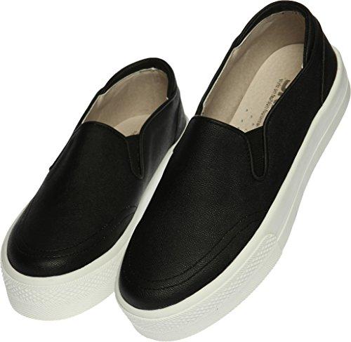 SNRD-Up 131–7 Casual mixte longue antidérapante Ons Baskets chaussures Noir - 137-Black