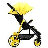 GKBMSP Kinderwagen Zusammenklappbarer Kinderwagen Rückenlehne verstellbar 180 ° liegend Demontierte Armlehne Doppelrad Doppelbremse Leichter Kinderreisebuggy Geeignet für 0-36 Monate Baby