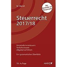 Steuerrecht 2017/18 Ein systematischer Überblick