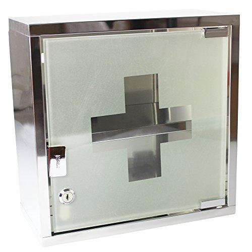 com-fourr-medizin-schrank-aus-edelstahl-mit-matter-glastur-abschliessbar-30x15x30cm-hochglanzendes-g