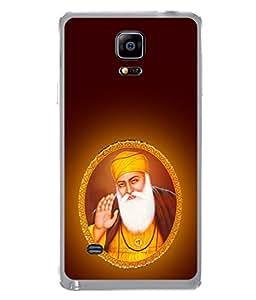 FUSON Designer Back Case Cover for Samsung Galaxy Note 4 :: Samsung Galaxy Note 4 N910G :: Samsung Galaxy Note 4 N910F N910K/N910L/N910S N910C N910Fd N910Fq N910H N910G N910U N910W8 (Guruji Beautiful Frame God His Mission Blesses)