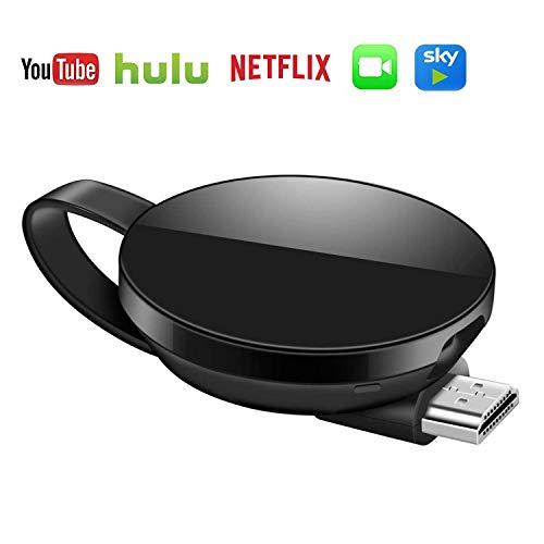 Ricevitore del dongle del display wireless, versione di rete 5G 1080P HDMI Miracast WiFi Supporto per Streamer multimediale Supporto Netflix Hulu Plus Airplay DLNA TV Stick per smartphone iOS /Android