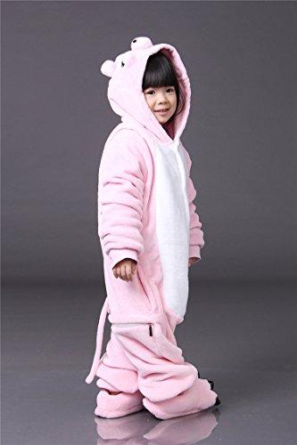 Tonwhar® Children' s Halloween Costumes Kids Kigurumi Onesie Animal Cosplay Mehrfarbig - Rosa, Schwein