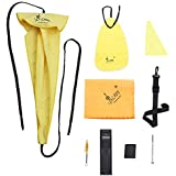 KKmoon Saxophone Cleaning Maintenance Kit Including Sax Neck Strap + Thumb Rest Cushion + Reed Case + Mouthpiece Brush + Mini Screwdriver + 4 Types of Cleaning Cloth