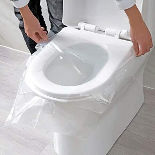 SUJING 50 Stück Toilettensitzbezüge Einweg-Töpfchen Sitzbezüge Toilettensitz-Abdeckung Spender -
