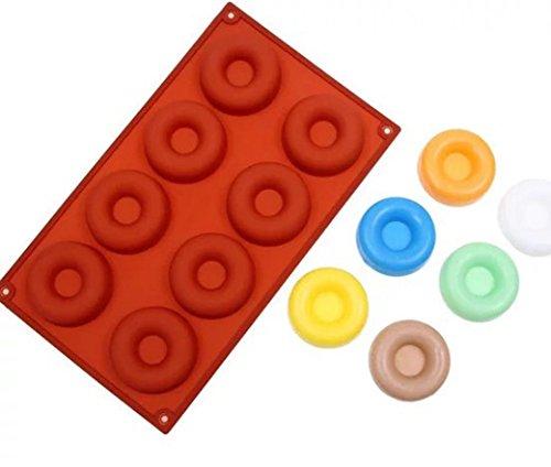 HCFKJ Katze Pfotenabdruck Silikon-Donut-Muffin-Schokoladen-Kuchen-Süßigkeits-Plätzchen-Kuchen-Backen-Form-Form-Wanne