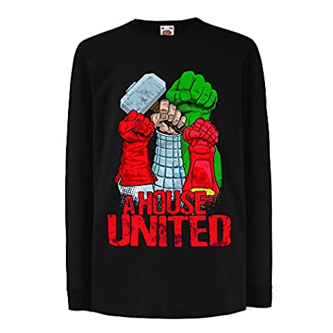 Funny t shirts for kids Long sleeve A House United!