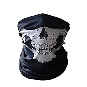 Skull Bandana Bike Motorcycle Helmet Neck Face Mask Paintball Ski Mask from Generic