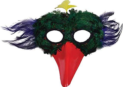Plastik vogel-schnabel ausgefallen Party Maskerade Federmaske verschiedene Farben einzel