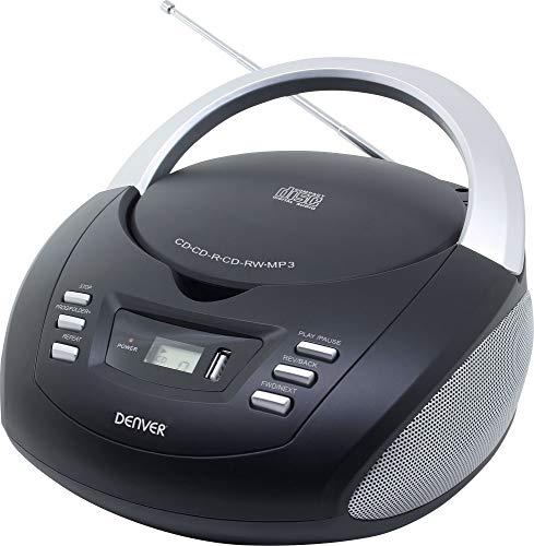 Denver Tragbarer CD-Payer mit PLL FM Stereo Radio