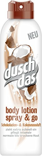 Duschdas Body Lotion Spray & Go Schokoladen- & Kokosnussduft, 6er Pack (6 x 190 ml)