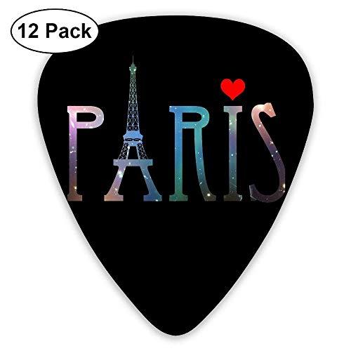 Galaxy Paris Eiffel Tower 351 Shape Classic Picks 12 Pack For Electric Guitar Acoustic Mandolin Bass Knit Knot Hat