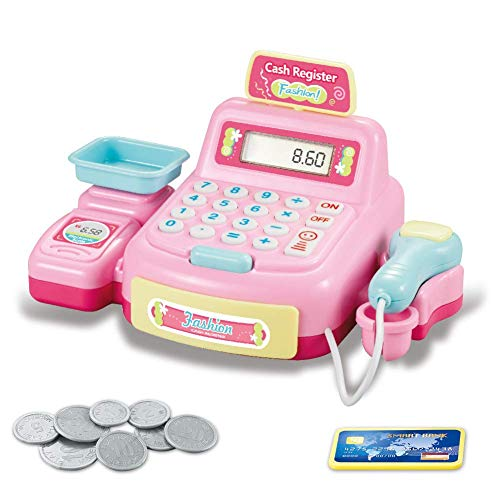 Ganquer Luz Sonido Caja Registradora Juguete Niños Infantes Supermercado Simulación Juegos de rol - como Cuadro Show, 884a-1