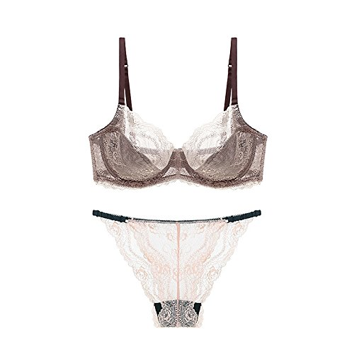 B C D Transparent Lace Bra Set Women Underwear Set Intimate Soft Cup Women'S Bra Brief Sets Sexy Bralette