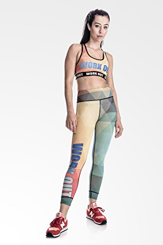 Fringoo - Legging de sport - Femme Multicolore Bigarré Taille Unique RAINBOW yoga