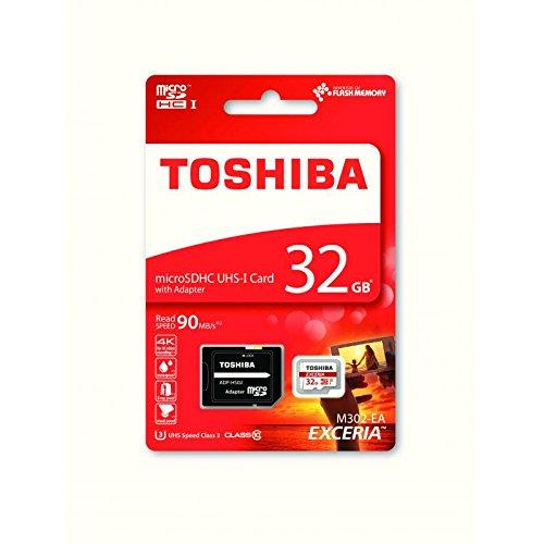 Italy's cartridge micro sd 32gb toshiba microsdhc 32gb classe 10 uhs-i u3 90mb/s + adatt thn-m302r0320ea