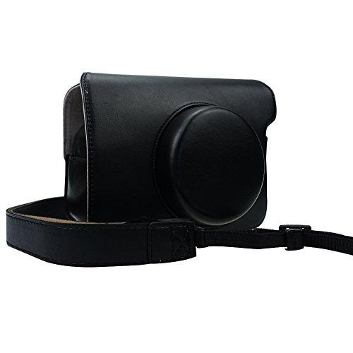 Cpano Wide 300 PU Leder Kameratasche mit verstellbarem Schultergurt für Fujifilm Instax Wide 300 Kamera (Schwarz) Polaroid Kamera Film Wide