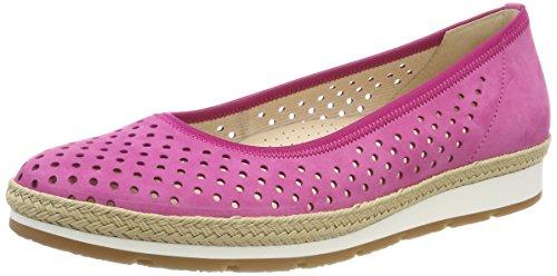 Gabor Comfort Sport, Ballerines À Bout Fermé Femme Multicolore (pinkjute / Gel / Sn)