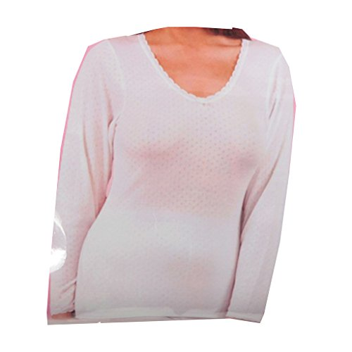 Ladies Thermal Winter Warm Underwear Womens Long Sleeve Thermal Brushed Vest S-XL Test