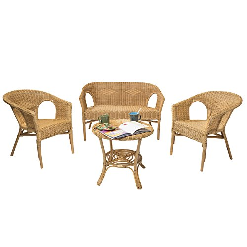 Rotin Design Soldes : -43% Salon d'intérieur Chris Miel en Osier