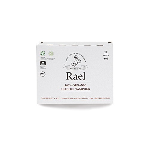 Rael - Tampones 100% orgánicos, sin cloro,