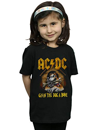 AC/DC Mädchen Give The Dog A Bone T-Shirt Schwarz 3-4 Years -