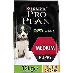 PRO PLAN Medium Puppy avec OPTISTART Riche en Poulet - 12 KG - Croquettes pour chiots de taille moyenne