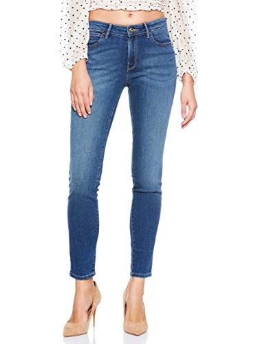 Wrangler Damen Skinny Jeans, Blau (Authentic Blue 85U), 28W / 32L
