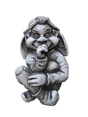 Gartenfigur Troll Zwerg Steinfiguren Garten Figur Wicht Gnom Deko Teichfigur von Garden Pleasure auf Du und dein Garten