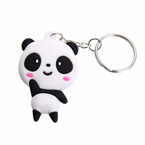 Mayitr 2 Pcs Llaveros Panda Colgante Decorativo