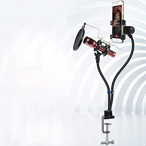 ETbotu Mikrofon Radaufhängung Ständer Halterung Set für Handy mit Mikrofon mit Clip Ständer Halter Set