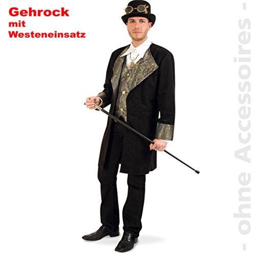 Gehrock Steampunk mit Westeneinsatz, Gentleman, Vampir, Steam-punk (Girl Kostüme Saloon Deluxe)
