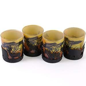 Deko teelichthalter savanne aus metall glas for Deko amazon