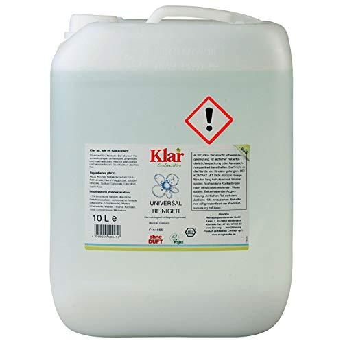 Klar Reiniger (KLAR Universalreiniger ohne Duft (10 Liter) dermatologisch getestet)