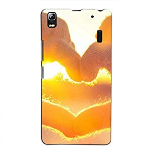 Bluethroat Hands Forming a Heart in Sunshine Back Case Cover for Lenovo A7000 :: Lenovo A7000 Plus :: Lenovo K3 Note