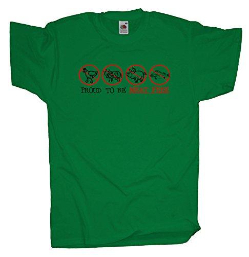 Ma2ca - Proud to be Meat free Herren T-Shirt | Vegetarier Veganer Shirt Kelly