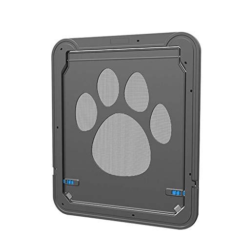 Dergtgh ABS Automatical Pet Bildschirm Tür Pet Tore Katzen Tür für Screen-Fenster Home Cottage Nylon-Mesh-Welpen-Kätzchen-Zaun Tür - Pet-tür-fenster
