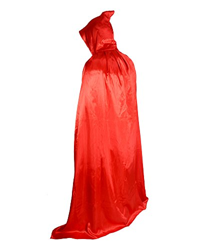 Halloween Party Christmas Magic Devil Long Vampire Dracula 59 Inch Hooded Cloak Fancy Dress Costume Cape Red Red Hooded Capes