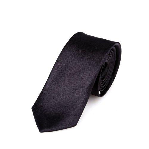 Corbata estrecha 5 cm de color negro - hecho a mano // diferentes colores seleccionables