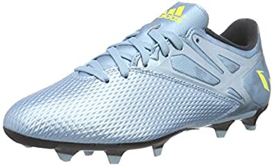 adidas Men's MESSI 15.3 FG/AG Silver, Bright Yellow and Core Black Football Boots - 11 UK