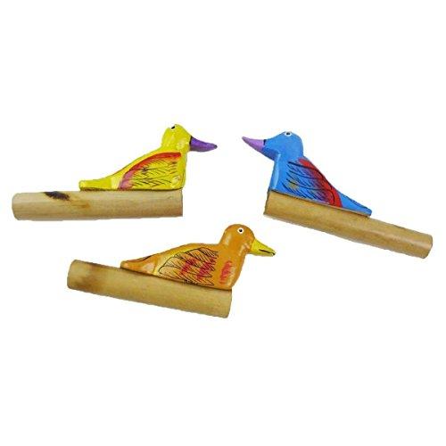 Simandra Entenpfeife Bambus Flöte Kinder Holz Percussion Lotusflöte Klang Rhythmus Jagd Natur Bunt (Kinder Für Jagd-spielzeug)