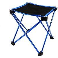 Uogrohhitu[jiptrtr Taburete Plegable al Aire Libre Silla de Plegar portátil Ultra Ligera de Aluminio Ocio Silla de Pesca Opcional Tamaño 25 * 25 * 28 cm (Color : Azul)