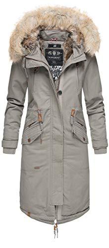 Navahoo Premium Damen Winter Jacke Parka Mantel Winterjacke warm Kunstfell B665