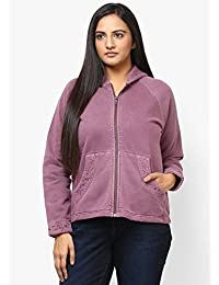 GRAIN Purple Color Regular fit Cotton Jackets for Women