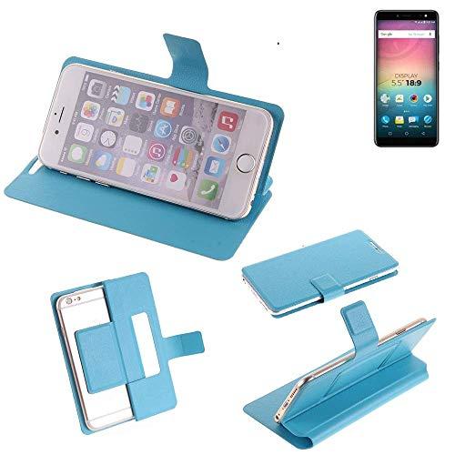 K-S-Trade Flipcover für Allview V3 Viper Schutz Hülle Schutzhülle Flip Cover Handy case Smartphone Handyhülle blau