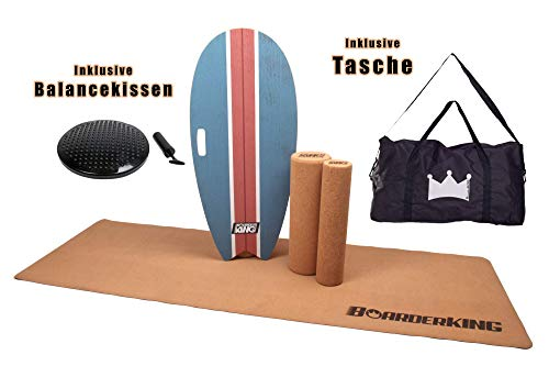 Indoorboard MEGA BUNDLES Balance Board Skateboard Surfboard Balanceboard (Surf Blue 150 mm)